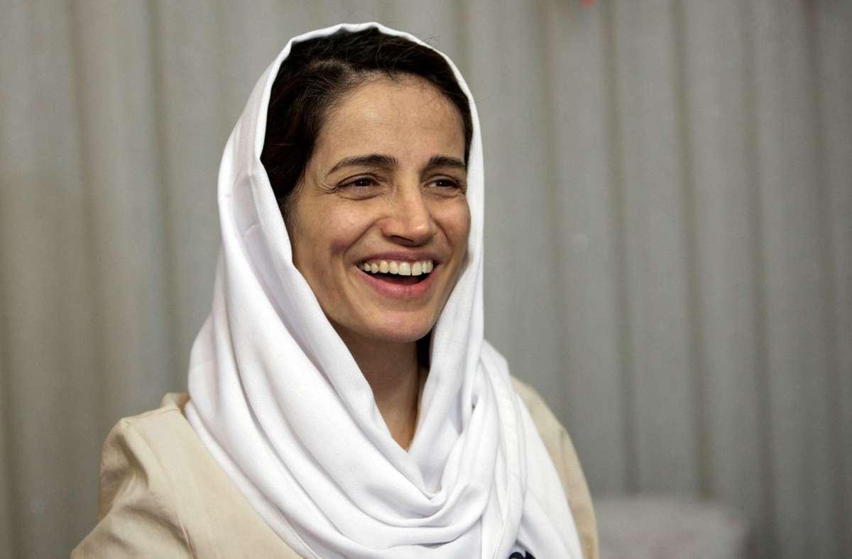 Die Menschenrechtsanwältin Nasrin Sotudeh sitzt derzeit in iranischer Haft. Foto: dpa/Behrouz Mehri