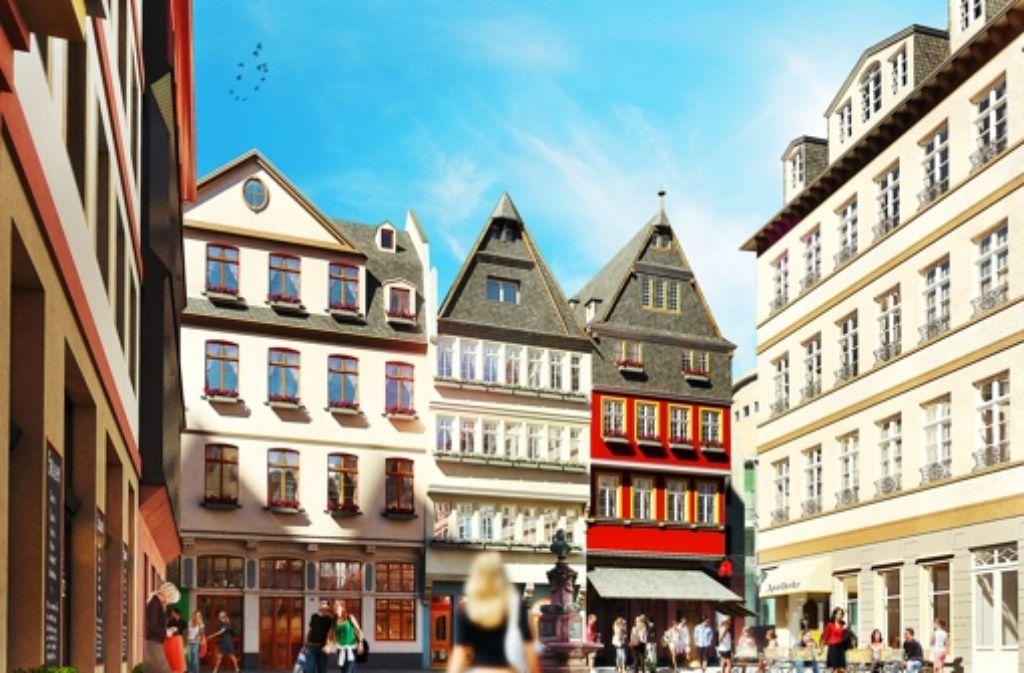 Der historische Hühnermarkt könnte zu einer neuen Attraktion von Frankfurt werden. Foto: HHVision/Dom-Römer GmbH