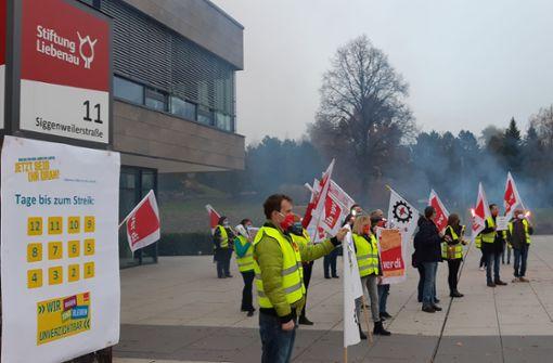 Warnstreik bei  der Liebenau