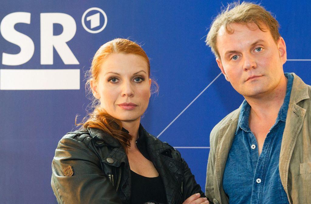 Elisabeth Brück und Devid Striesow bilden das Team des ARD-Tatorts aus dem Saarland. Foto: dpa