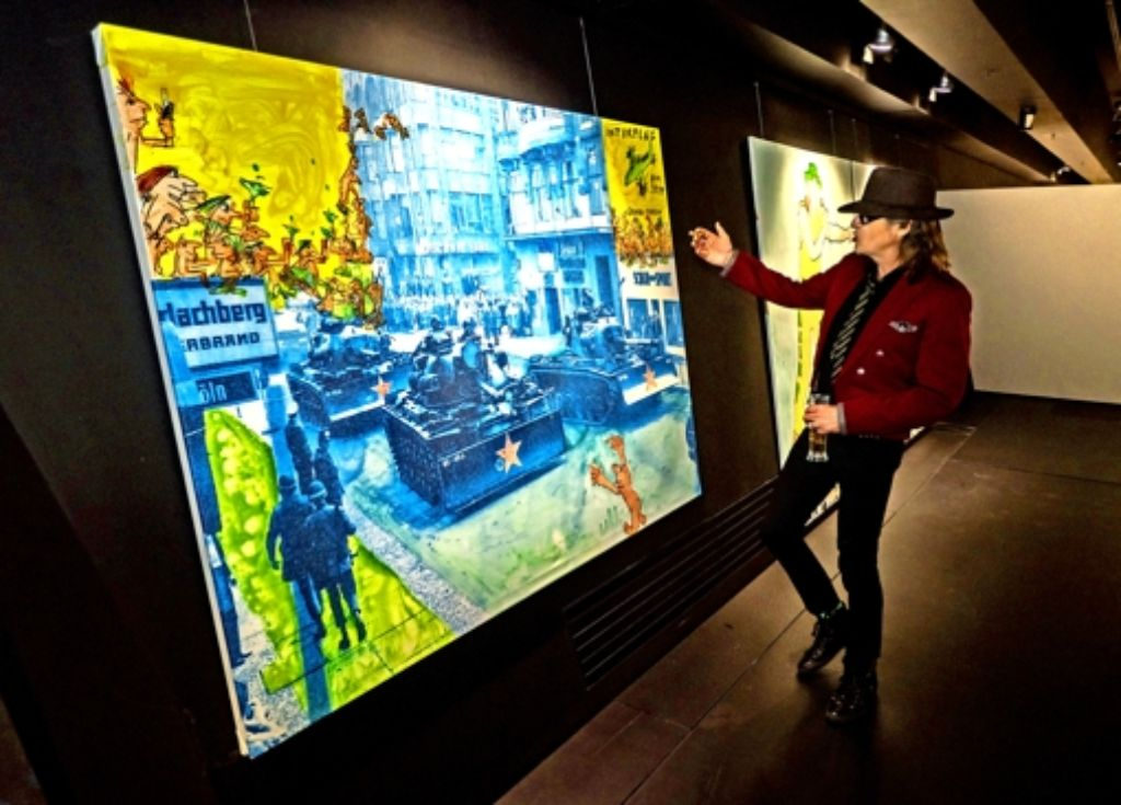 """Seit mehr als 20 Jahren ist Udo Lindenberg auch als Maler aktiv. Seine Spezialität sind die """"Likörelle"""", bei denen er Likör als Farb Foto: factum/Weise"""