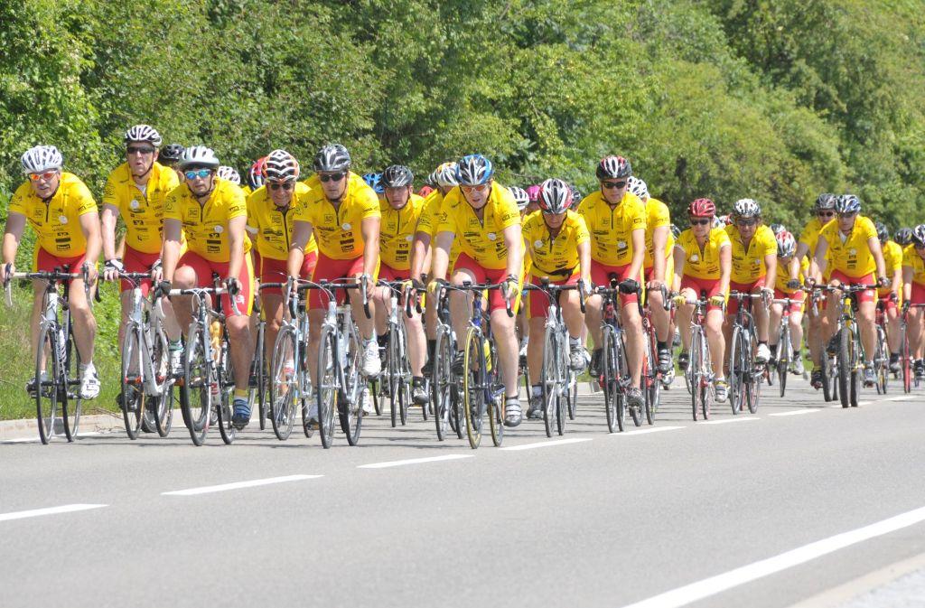 Die Radler der Tour Ginkgo gehen für den Nachsorgedienst des Olgahospitals ins Rennen. Foto: Christiane-Eichenhofer-Stiftung