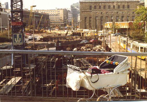 Der Stuttgarter Bahnhof im Jahr 1971