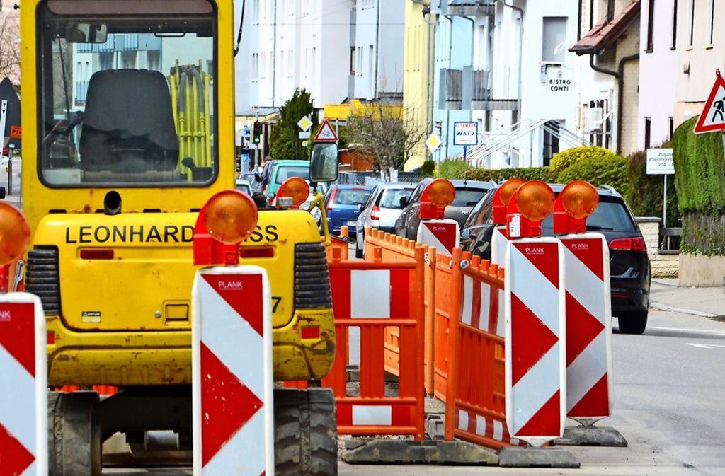 In Möhringen stehen 2019 zahlreiche Baustellen  an. Autofahrer müssen sich mancherorts auf Umleitungen und Verkehrsbehinderungen einstellen. Foto: Sandra Hintermayr