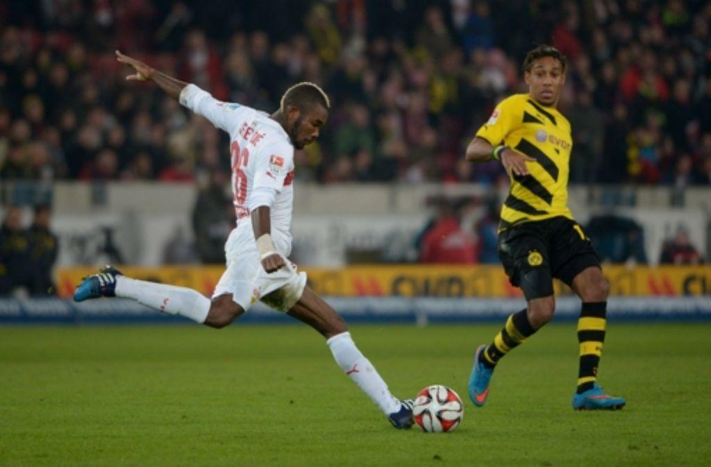 Geoffroy Serey Dié bei seinem Heimspieldebüt gegen Borussia Dortmund. Foto: dpa
