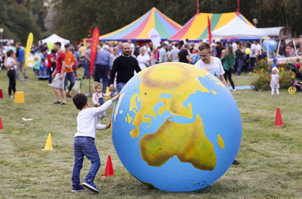 Zum Weltkindertag gab es ein großes Fest für Familien im Sommerhofenpark. Foto: factum/Simon Granville
