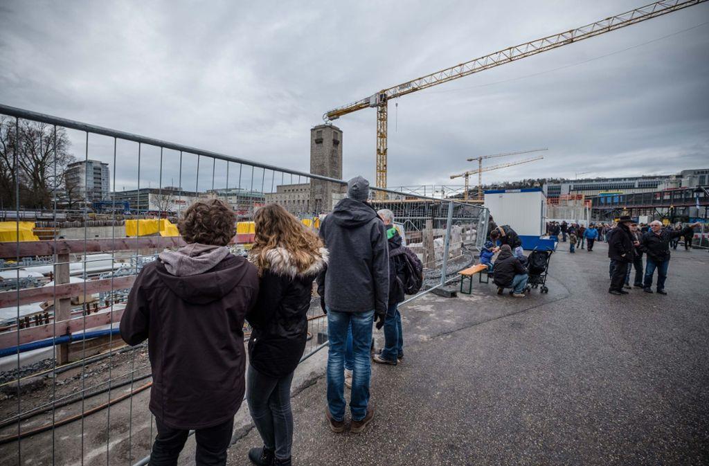 Viel los auf der Baustelle von Stuttgart 21. Foto: Lichtgut/Leif Piechowski