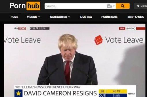 Boris Johnson landet auf Pornoseite