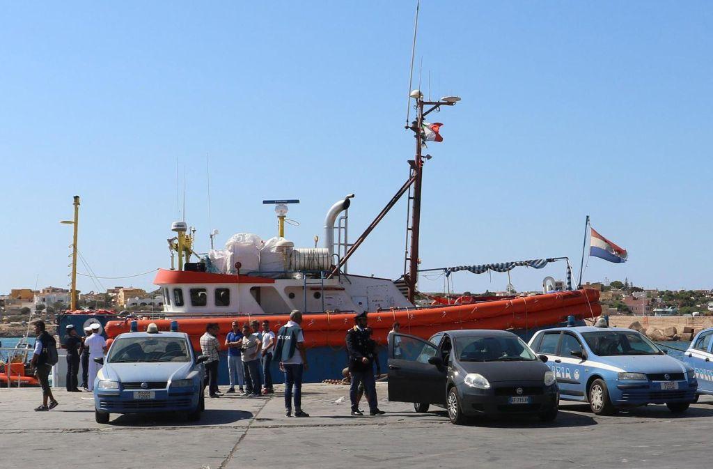 Mittlerweile kommen  weniger Migranten in Lampedusa an. Foto: ANSA/AP
