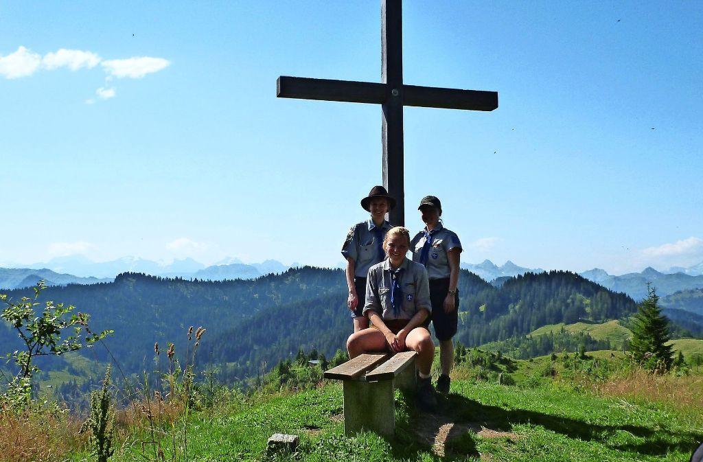 Die Hohenheimer Pfadfinderinnen bei einem Ausflug Foto: z/privat
