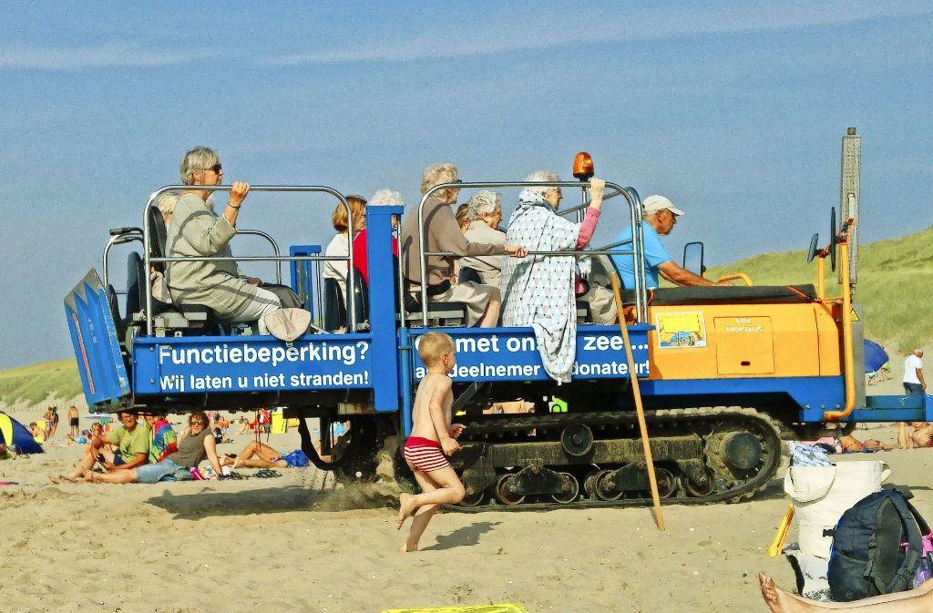 So werden in den Niederlanden Gehbehinderte transportiert Foto: Pfefferle