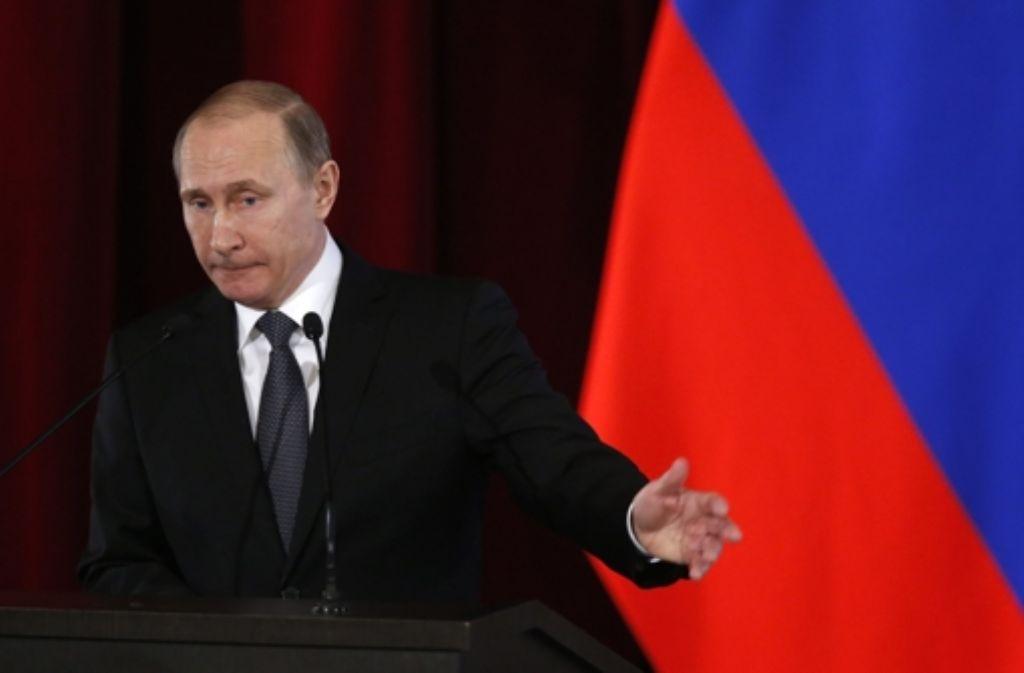 Putin hat den Teilabzug aus Syrien angeordnet. Foto: EPA POOL