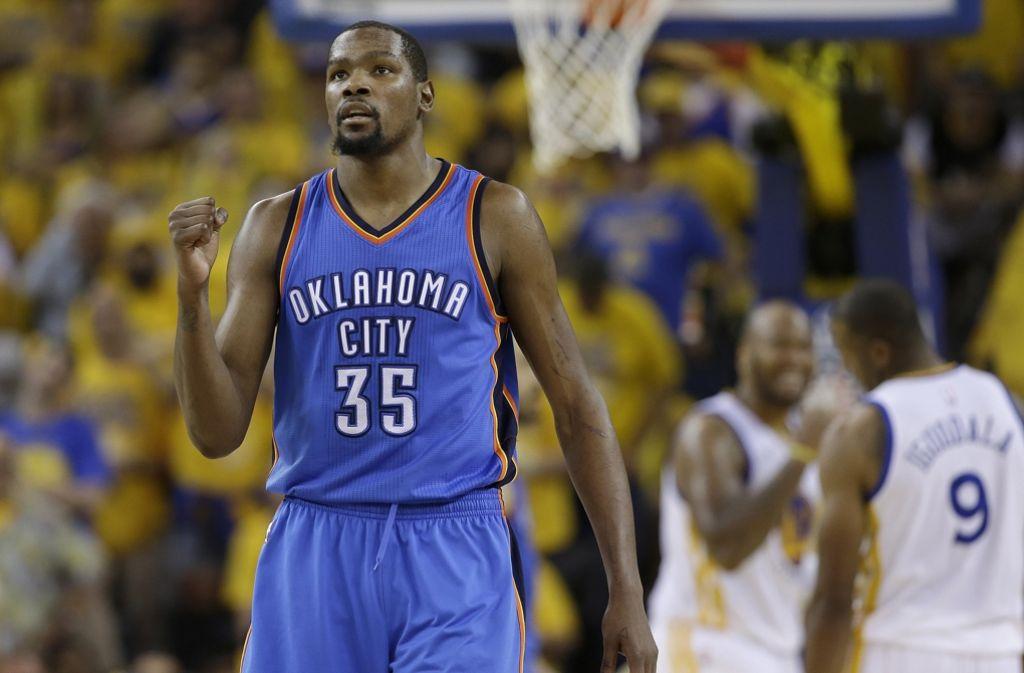 Riesen-Deal in der US-Basketball-Profiliga NBA: Kevin Durant wechselt von Oklahoma zu den Golden State Warriors. Foto: AP