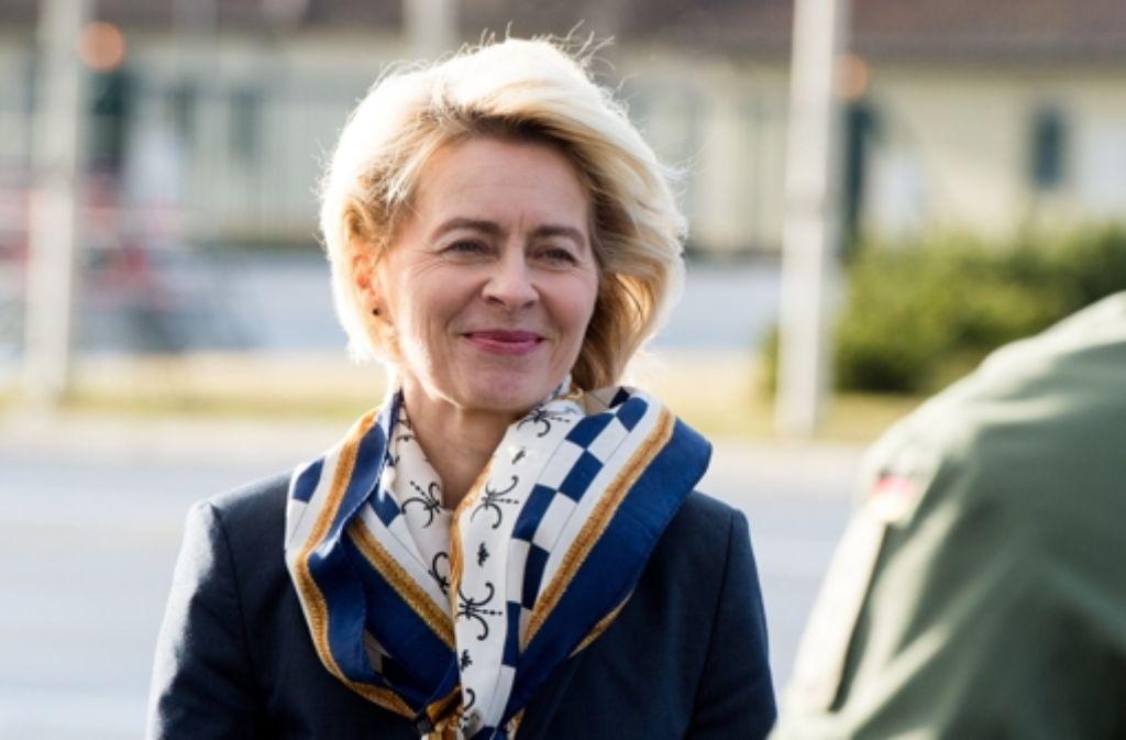 Verteidigungsministerin Ursula von der Leyen (CDU) Foto: dpa
