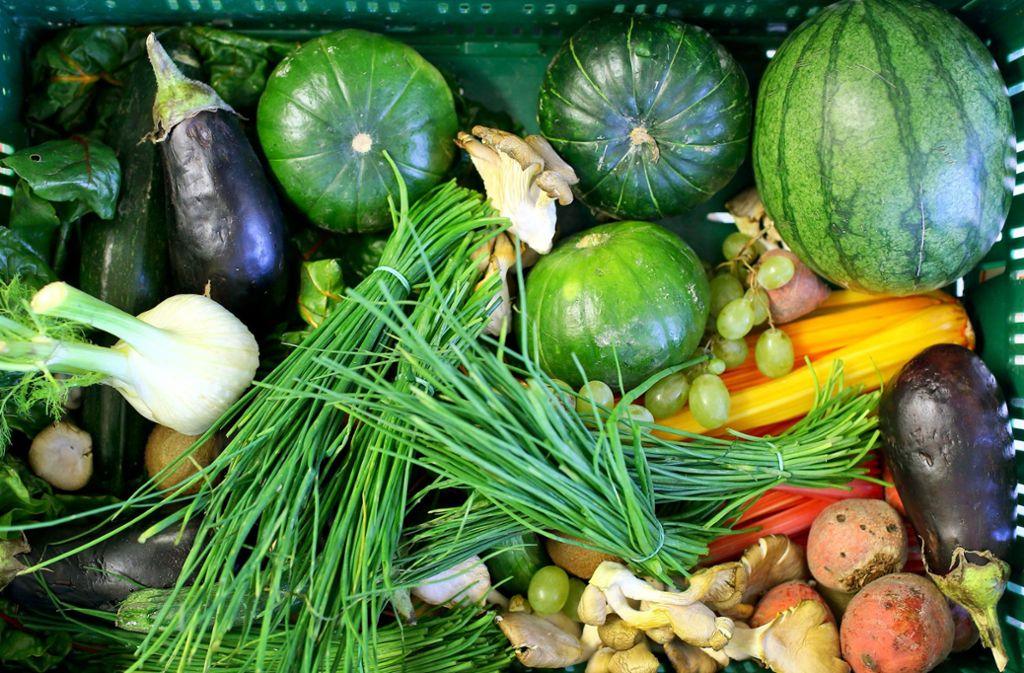 Bislang gibt es in einer Verwaltungsvorschrift des Landes die Empfehlung, mindestens 20 Prozent ökologisch erzeugte Lebensmittel einzusetzen. Foto: dpa-Zentralbild