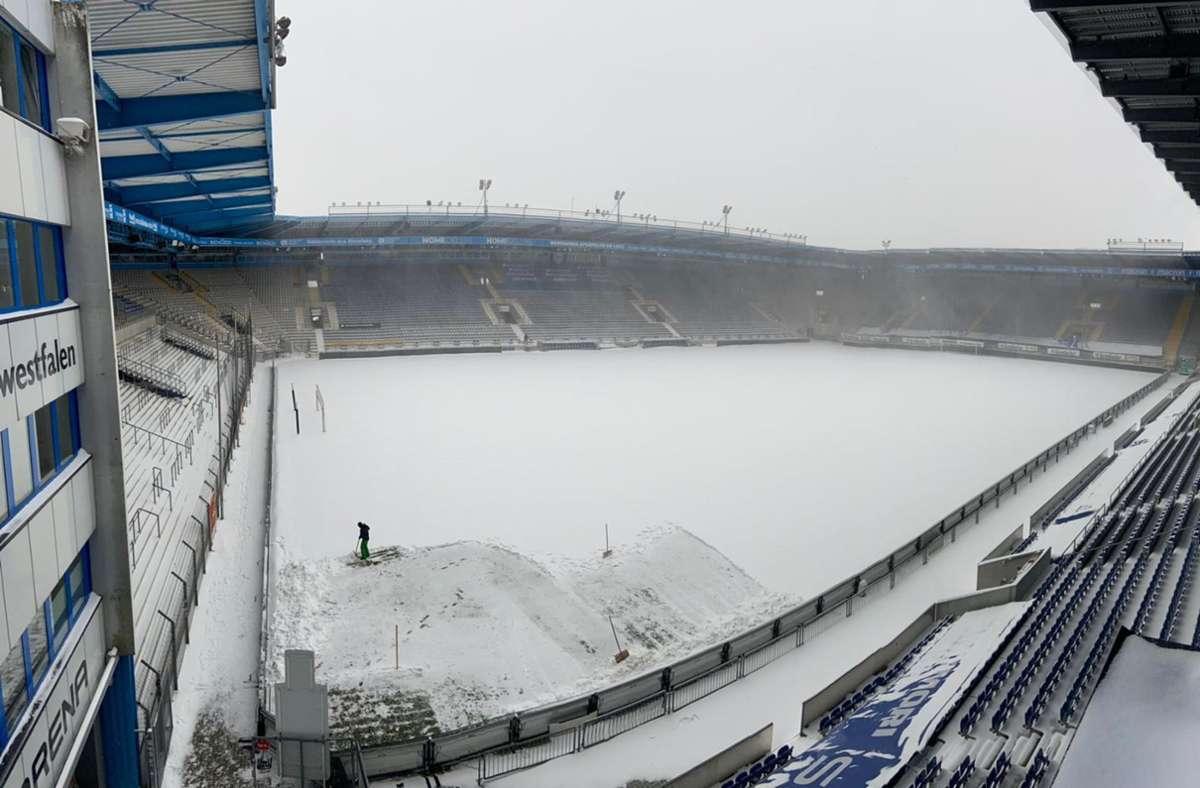 In Bielefeld kann am Sonntag nicht gespielt werden. Foto: dpa