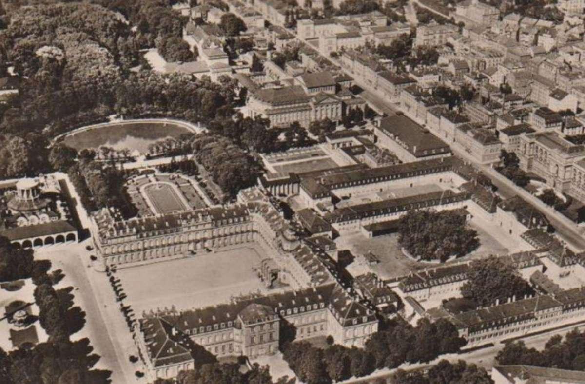 Luftaufnahmen mit Blick auf die königliche Landesbibliothek und ihrer Nachbarn in den 1930er Jahren.  Foto: Sammlung Michaela Klapka