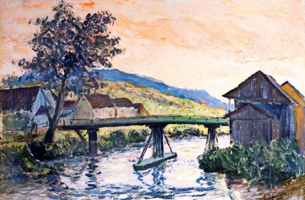 Die alte Filsbrücke hat Carl Denner mehrfach gemalt. Foto: Horst Rudel