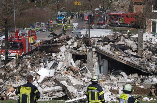 Wohnhaus explodiert und komplett abgebrannt