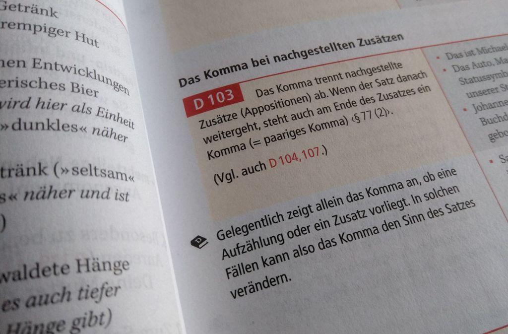 Der Duden führt alle wichtigen Regeln auf. Jetzt muss man sie nur anwenden. Foto: © Bibliographisches Institut GmbH, 2019