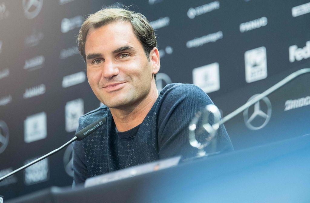 Roger Federer ist der Zuschauermagnet beim Mercedes-Cup in Stuttgart. Foto: dpa