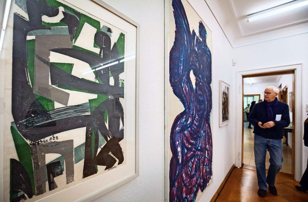 Die aktuelle Ausstellung widmet sich HAP Grieshaber. Foto: Michael Steinert