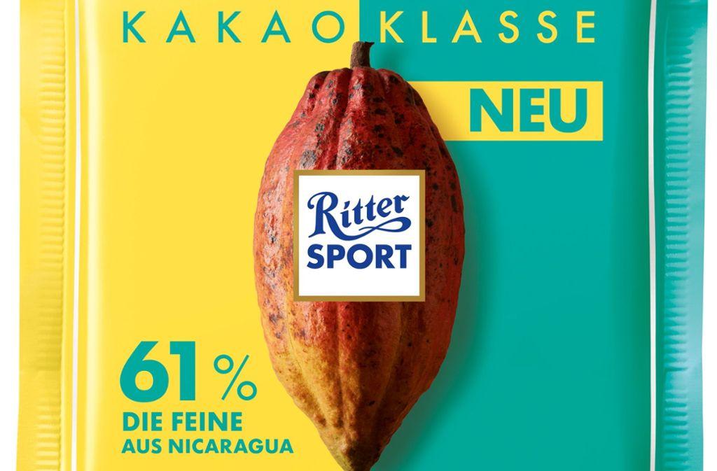 Nach der Nuss-Klasse, die es seit 2016 gibt, führt Ritter Sport nun auch die Kakao-Klasse ein. Foto: Ritter Sport