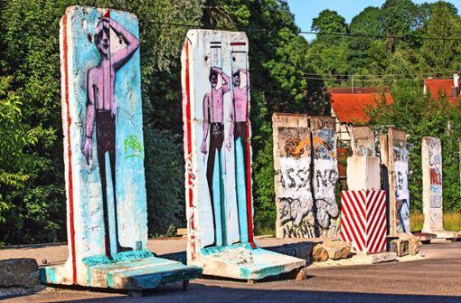Die Berliner Mauer steht am Butzbach
