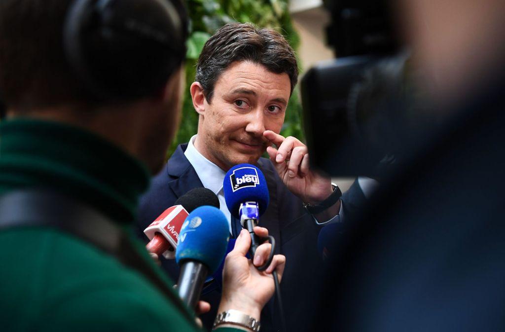 Benjamin Griveaux erklärte seinen Rückzug aus dem Kampf um das Bürgermeisteramt in Paris. Grund ist ein Video mit sexuellem Inhalt. Foto: AFP/Christophe Achambault