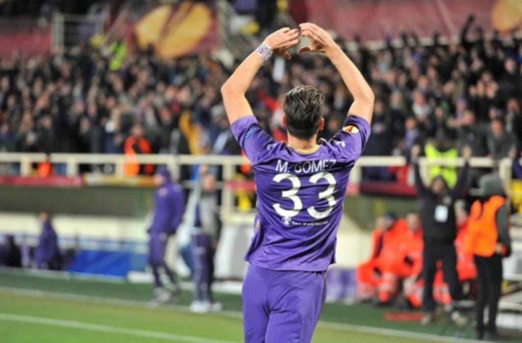Mario Gomez und der AC Florenz - das passt im Moment sehr gut zusammen. Foto: ANSA