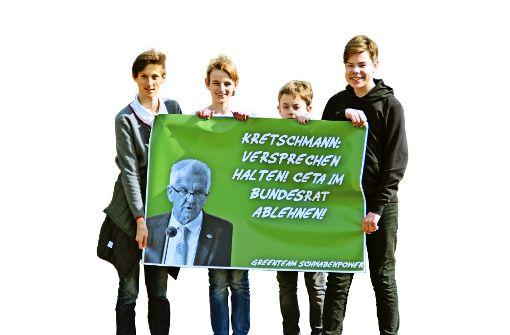 """""""Greenteam Schwabenpower"""" setzt sich gegen Ceta ein"""