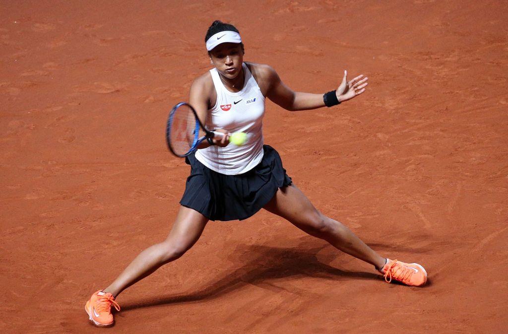 Naomi Osaka zeigte beim Tennis-Turnier in Stuttgart vollen Einsatz. Foto: Pressefoto Baumann