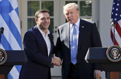 Trump und Tsipras überschütten sich mit Lob