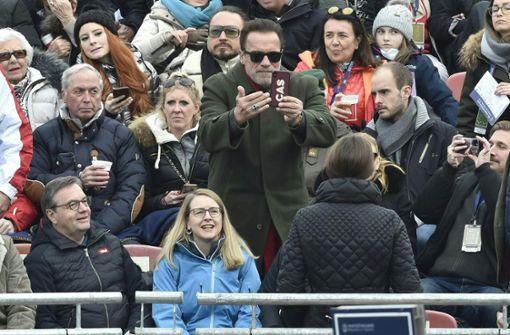 Hahnenkammrennen mit Schwarzenegger und Ecclestone