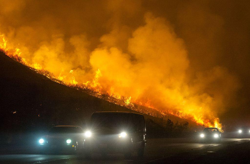 Kalifornien wird dieser Tage von schweren Waldbränden erschüttert. Foto: SB News-Press via ZUMA Wire