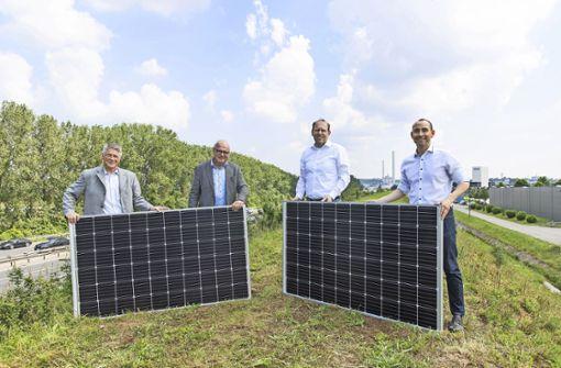 Auf den  A81-Wall beim Flugfeld kommt Solartechnik