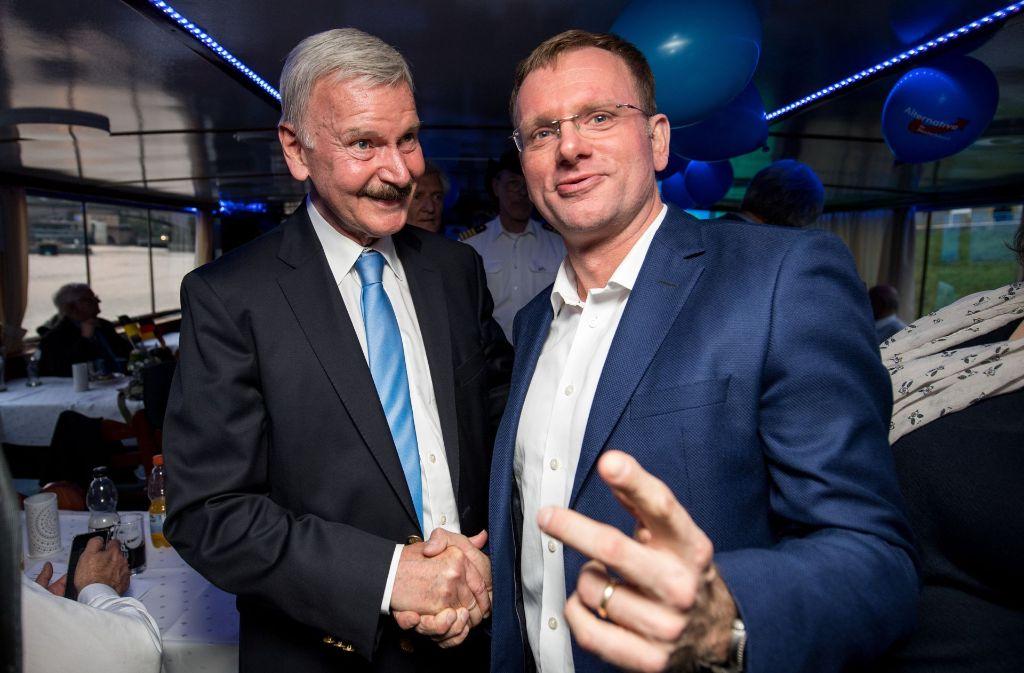 Lothar Maier (links) und Dirk Spaniel. (Archivfoto) Foto: dpa
