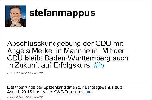 Von Stefan Mappus kein Tweet