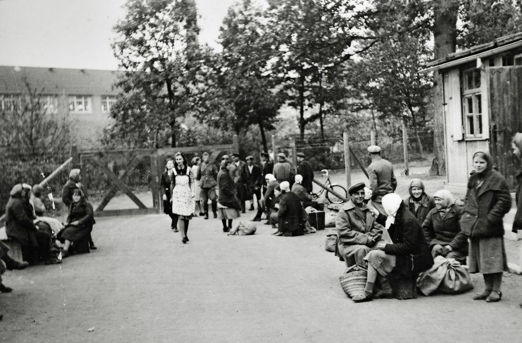 Im Eingangsbereich des Lagers warteten die Zwangsarbeiter auf den Weitertransport Foto: Stadtarchiv Bietigheim-Bissingen