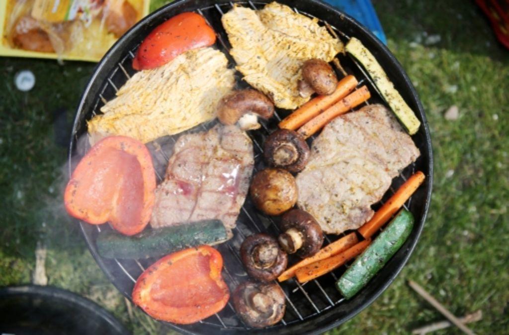Hm, lecker: Fleisch! Das Gemüse ist für die Tante. Foto: dpa