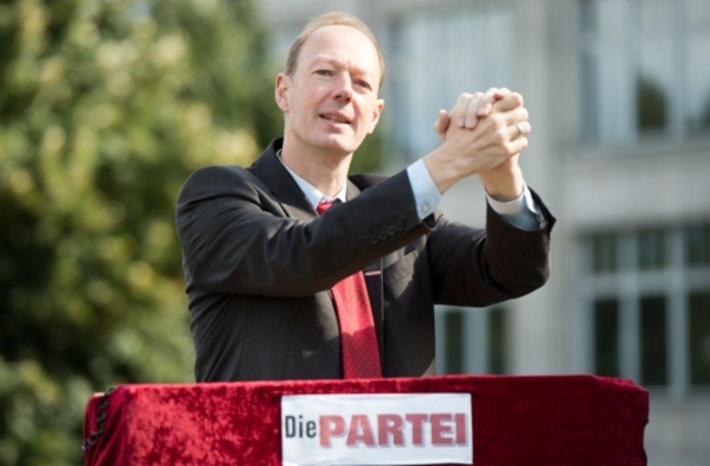 """Martin Sonneborn von """"Die Partei"""" Foto: dpa"""