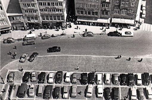 Als der Marktplatz ein Parkplatz war