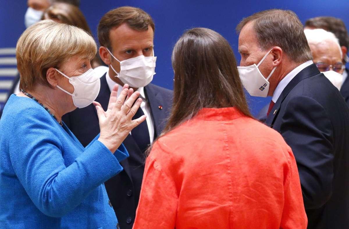 Die Lage beim EU-Gipfel war völlig verfahren – nun könnte ein neuer Vorschlag Bewegung in den Streit um das Milliarden-Paket bringen. Foto: dpa/Francois Lenoir