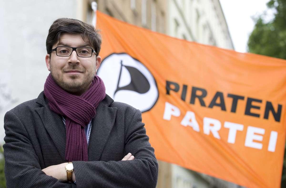 Christopher Lauer, damals Pirat, heute bei den Grünen. Foto: dpa/Sebastian Kahnert