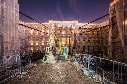 König Wilhelms Residenz komplett hohl