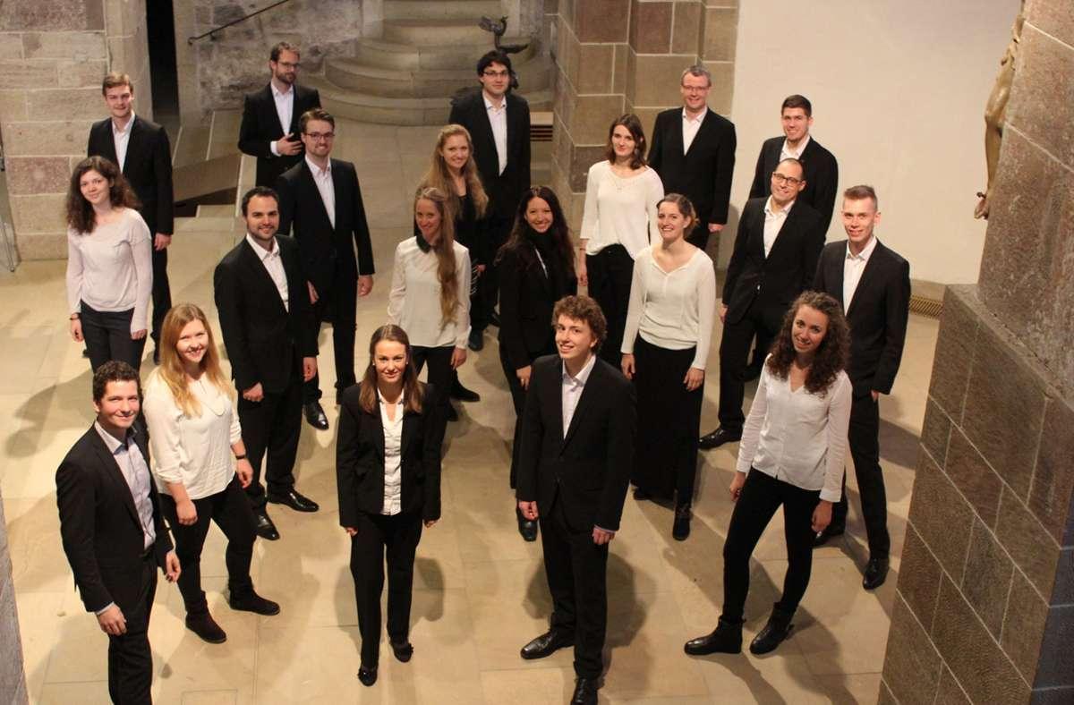 Das junge Sindelfinger Vokalkabinett gestaltet am Samstag zusammen mit Wolfram Graf den Abschluss der Orgel-Reihe Foto: red/red