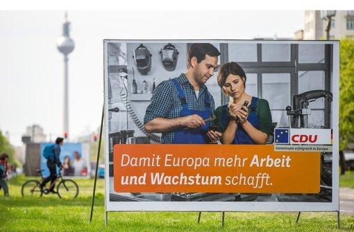 CDU-Plakate ohne Spitzenkandidaten