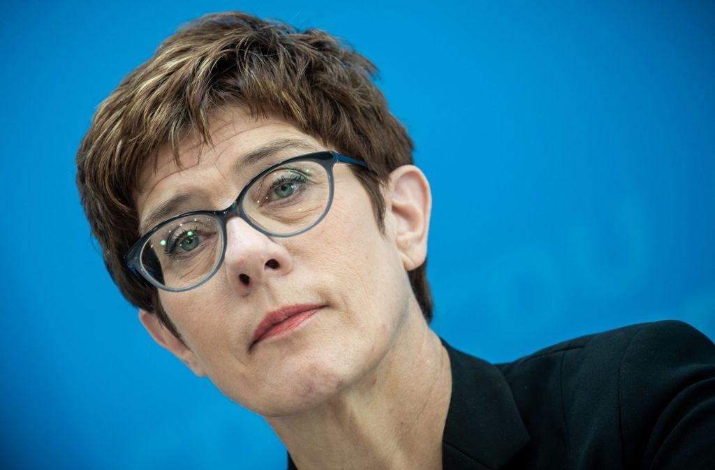 In der Kritik: Annegret Kramp-Karrenbauer wird vom CDU-Ortsverband Remseck für das schlechte Abschneiden bei der Kommunalwahl mitverantwortlich gemacht. Foto: dpa