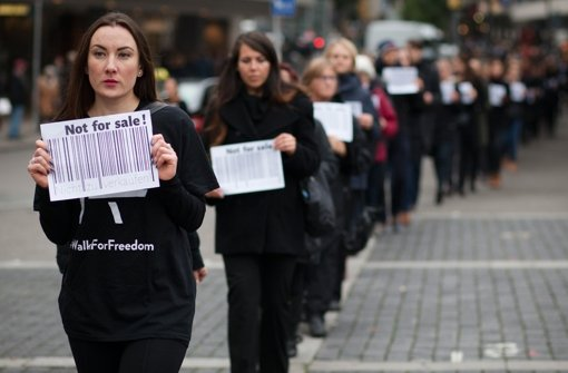 Demo gegen Menschenhandel