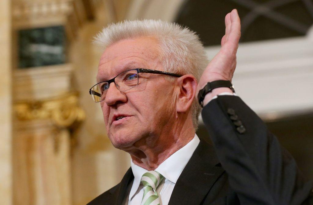 Die Grünen im Land mit ihrem Spitzenkandidaten Winfried Kretschmann freuen sich über das beste Wahlergebnis im Land. Foto: Getty